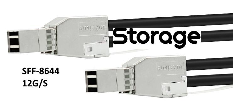 SFF8644 to SFF8644 Harici SAS Kablo 1 Metre Uzunluk StorNET