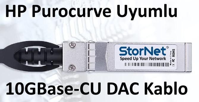 HP Procurve uyumlu 10GBase DAC Kablo 3 metre 24AWG  StorNET