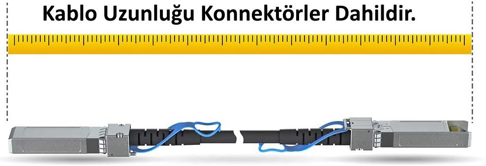 DAC Kablo Uzunluğu Konnektör Dahildir.
