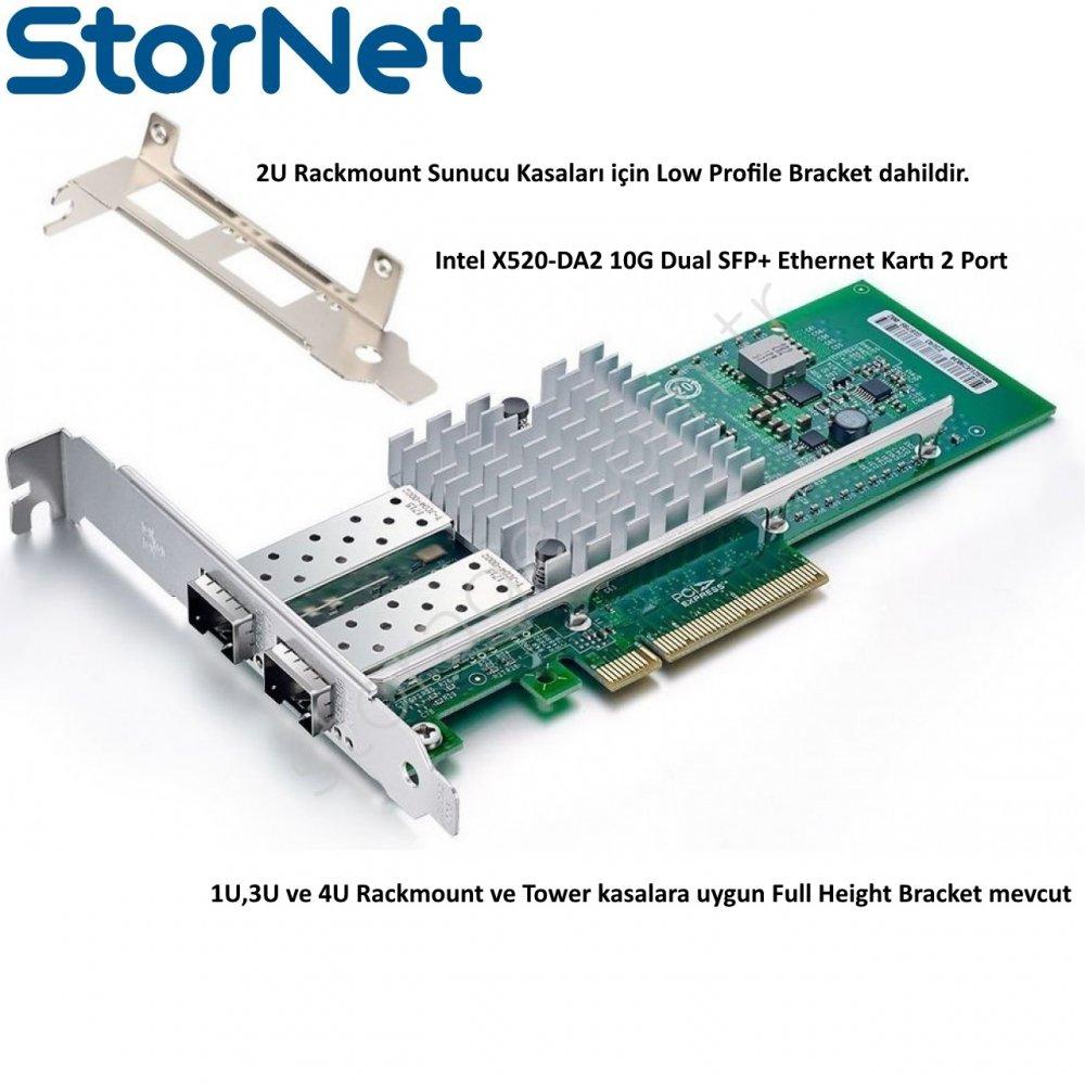 2 Port 10GbE SFP+ Intel 82599 ChipSet X520-DA2 Ethernet Kartı StorNET