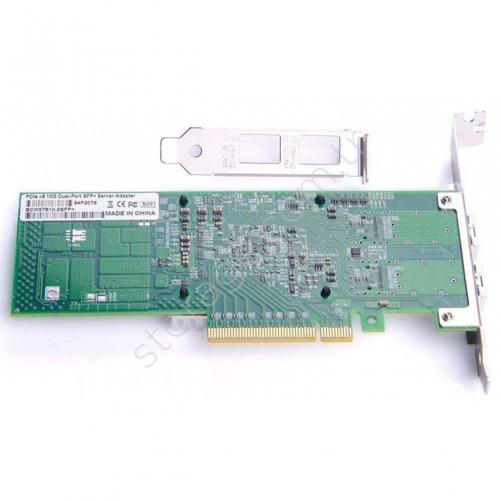 2 Port Fiber Ethernet Kartı 10GbE  Broadcom 57810 Chip DELL HP Supermicro uyumlu StorNET