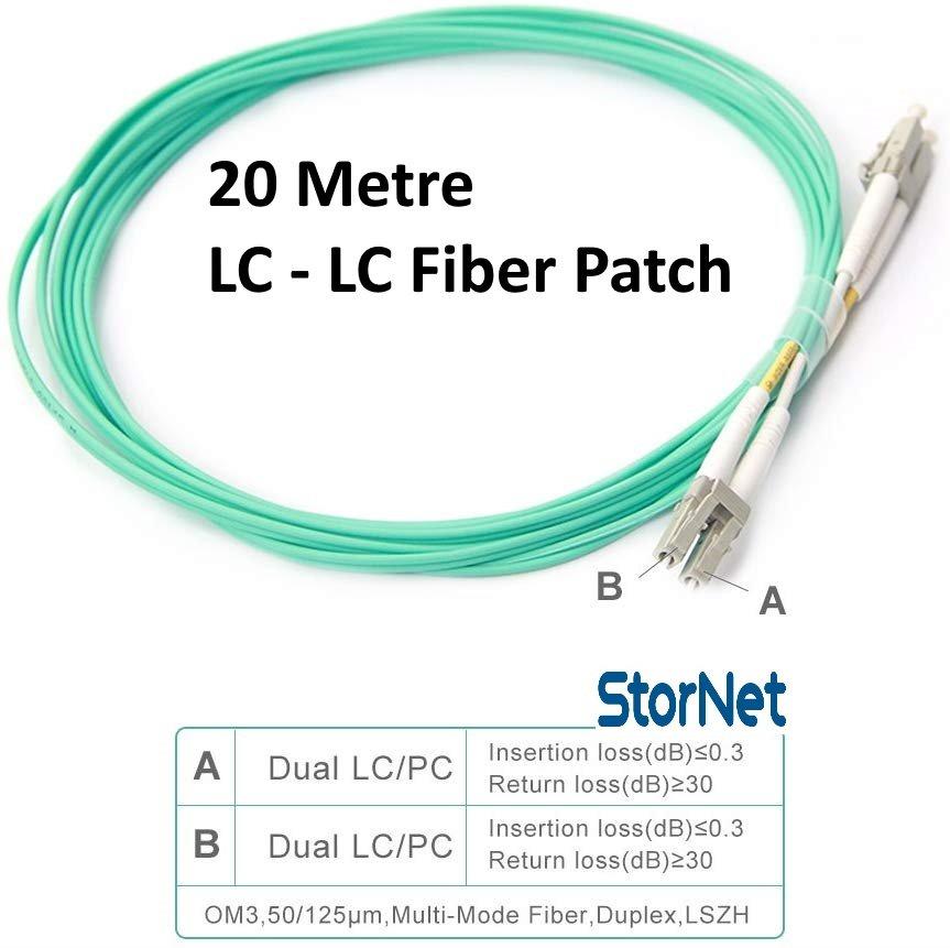 20 Metre Fiber Patch LC to LC Kablo