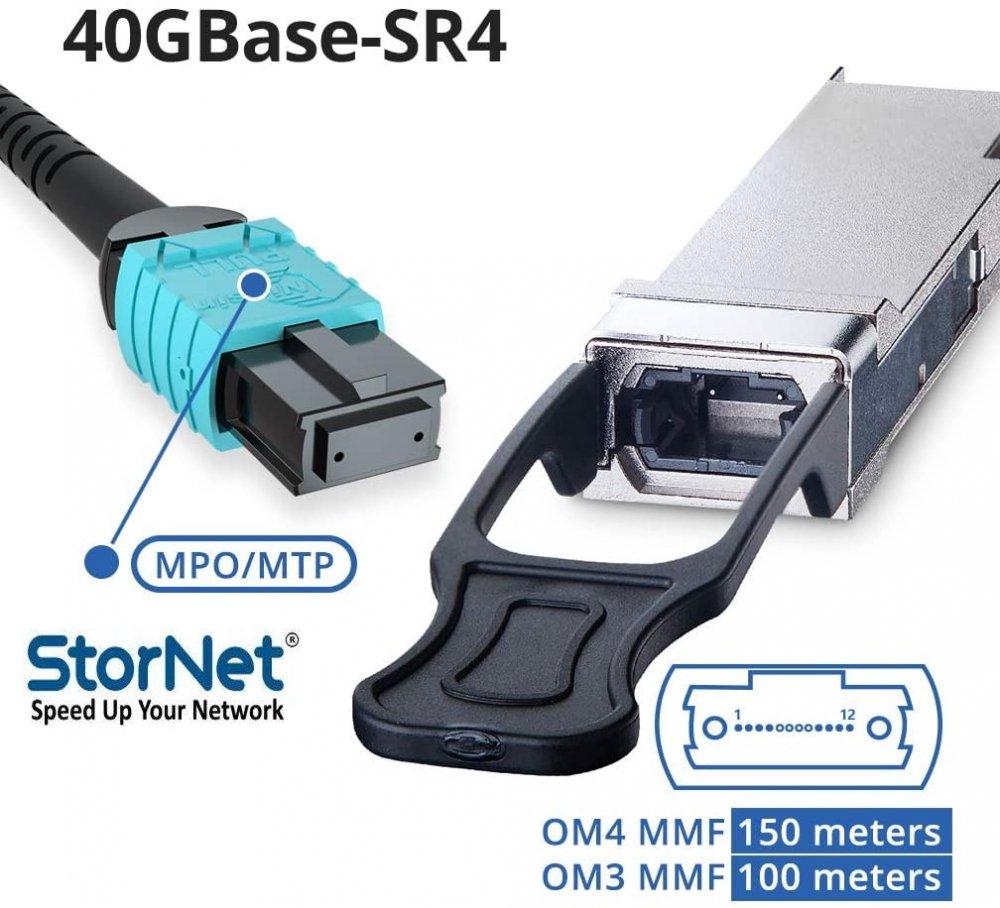 40GBASE-SR4 QSFP+ SR4 850nm 150m Transceiver Modül Juniper Uyumlu