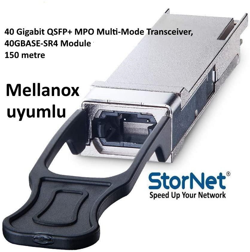 40GBASE-SR4 QSFP+ SR4 850nm 150m Transceiver Modül Mellanox Uyumlu