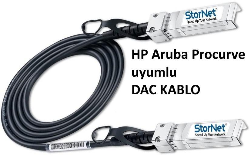 HP JG081C ile Uyumlu StorNET 10G SFP+ to SFP+ 5metre DAC Kablo