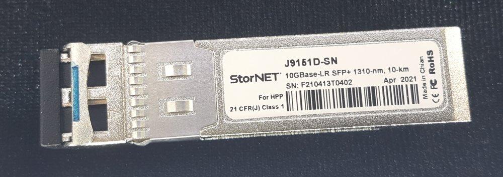 HPE J9151D Aruba Uyumlu StorNET SFP+ Transceiver