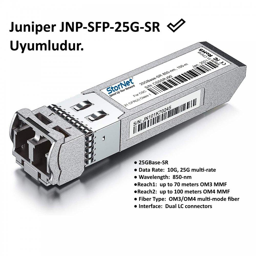 JNP-SFP-25G-SR Juniper uyumlu 25Gbs SFP28 SR Transceiver 850nm 100metre