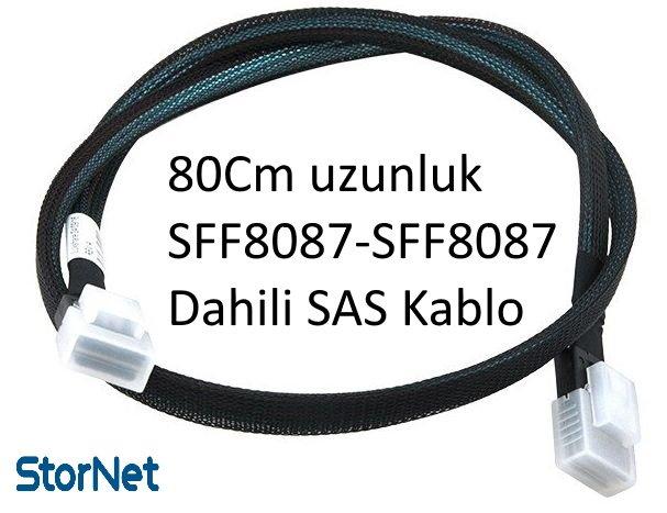 SFF 8087 to SFF 8087SAS Kablo Dahili RAID Kablosu  80 cm