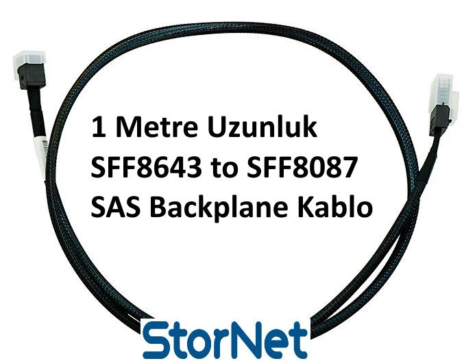 SFF8643 to SFF8087 Dahili SAS Raid Kablosu