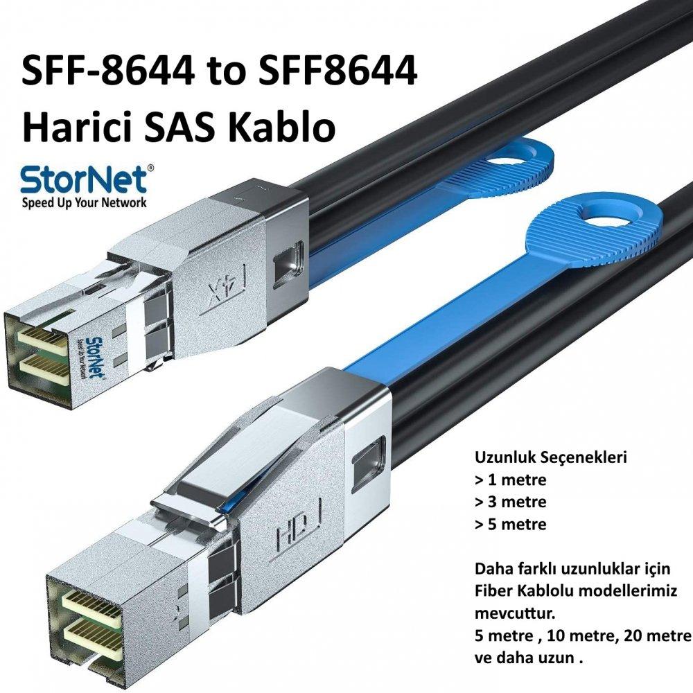 SFF8644 to SFF8644 Harici SAS Kablo 3 Metre StorNET
