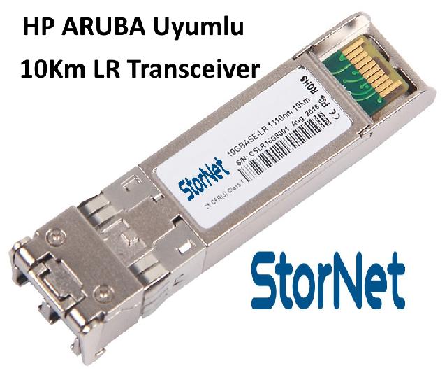 HP ProCurve ARUBA Uyumlu SFP+ 10Gbps SMF, 1310nm 10KM  LR Transceiver - StorNET