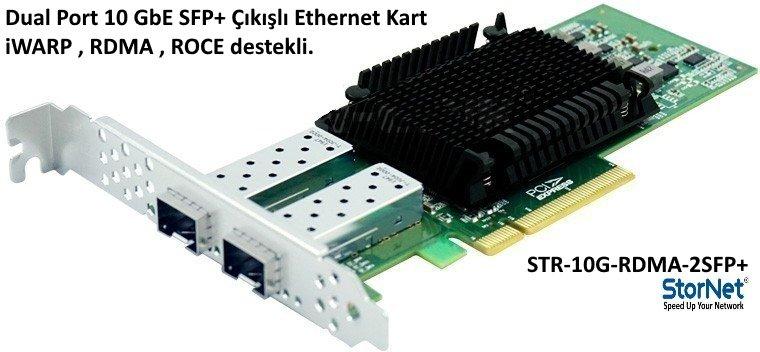 STR-10G-RDMA-2SFP+ Dual Port 10GbE Ethernet Kart iWarp RDMA Stornet