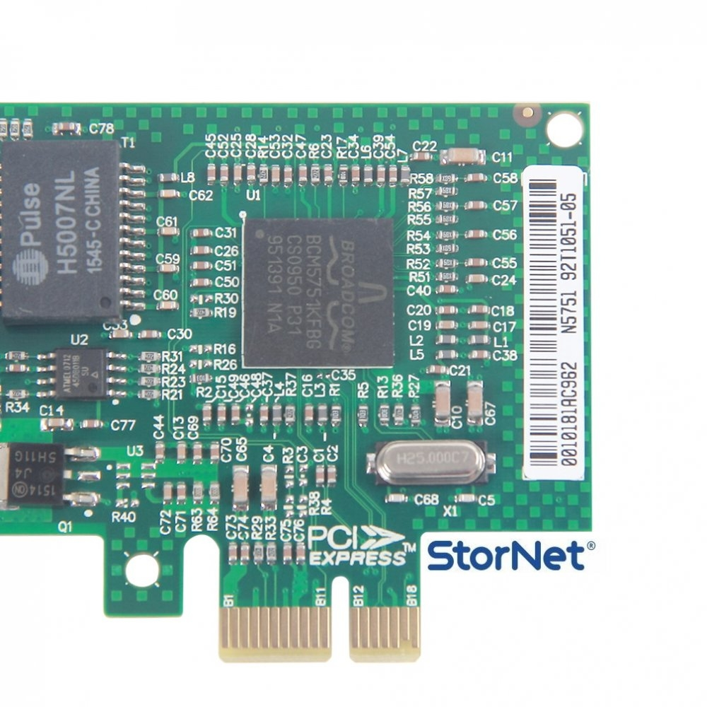 1 Port Ethernet Kart 1 GbE Broadcom BCM5751 Chip  StorNET